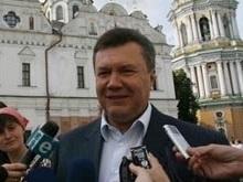 Тимошенко подарила Януковичу розы, а Ющенко - икону