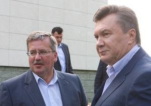 Янукович в Давосе встречается с президентом Польши