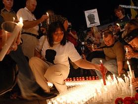 В Киеве прошла акция, посвященная 11-й годовщине исчезновения Гонгадзе