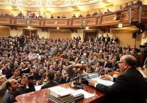 В Египте парламент выразил правительству вотум недоверия