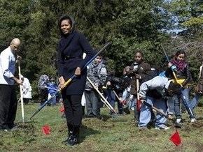 Мишель Обама разбила огород у Белого дома