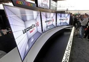 LG - телевизоры - LG начинает продавать телевизоры с гибким дисплеем