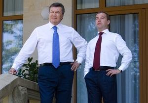 Янукович поздравил Медведева с днем рождения и оценил его личный вклад в развитие сотрудничества