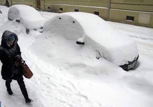 На Западной Украине бушует аномальный циклон