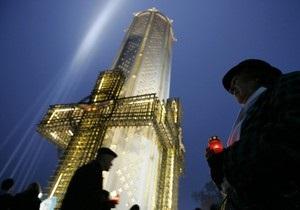 Мемориал жертвам Голодомора покрылся трещинами