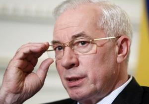 Азаров назвал нерыночной формулу цены российского газа для Украины