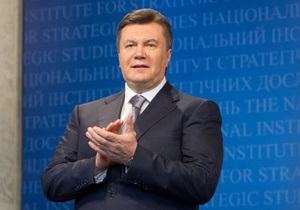 Янукович пожелал украинским спортсменам успехов на Олимпиаде