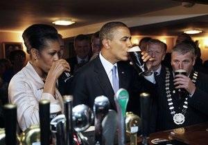 Обама отведал пива в ирландском пабе