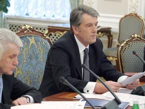 Ющенко упрекнул Литвина в промедлении с пакетом его законопроектов