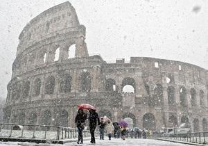 СМИ: В Италии из-за аномальных холодов погибла украинка