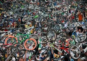 Фотогалерея: Веломания. Масштабный слет велосипедистов в центре Киева