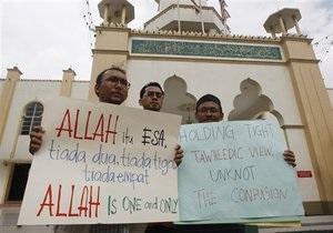 Противостояние христиан и мусульман в Малайзии: в ход пошли коктейли Молотова