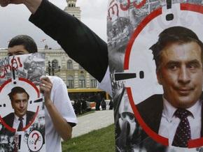 Грузины, не дождавшись отставки Саакашвили, начинают акцию неповиновения