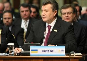Янукович на саммите ОБСЕ: Украина неуклонно придерживается демократических принципов