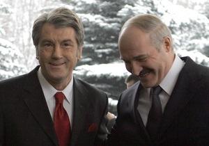 Ющенко поговорил с Лукашенко по телефону