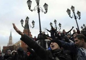 Участники митинга в центре Москвы покинули Манежную площадь