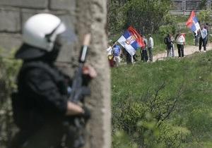 Международные силы вытеснили косовских полицейских из приграничного района