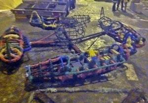 В Луганске сгорела карусель
