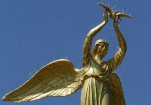 новости Донецка - памятник - Ахметов - В Донецке памятник ангелу украсили шипами