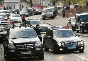 ГАИ: По пути следования кортежа Януковича стало меньше заторов