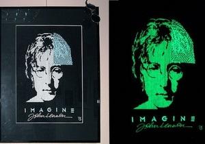 Киевская художница вышила портрет Джона Леннона светящимися нитками