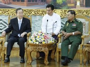 Генсек ООН встретился с лидером военной хунты Мьянмы