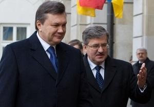 В пресс-службе президента Польши отказались сообщить детали разговора Коморовского с Януковичем