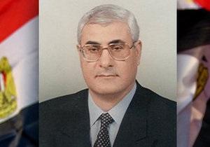 Египет - Биография временного президента Египта Адли Мансура
