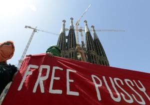 В европейских странах прошли акции протеста против суда над Pussy Riot