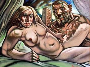 Картину с обнаженной Мадонной-культуристкой выставили на аукцион
