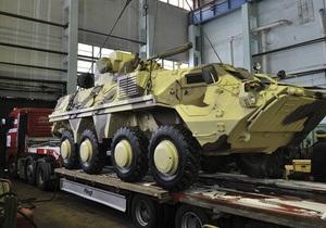 Два бронетранспортера рухнули в кювет при транспортировке из Одессы в Киев