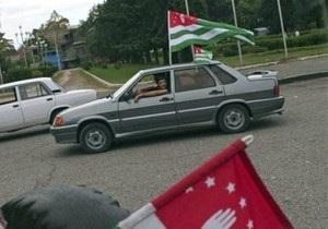 Абхазской милиции запретили останавливать авто с российскими номерами