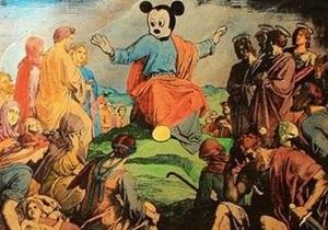 В России картину с Микки Маусом в образе Иисуса вновь признали экстремистской