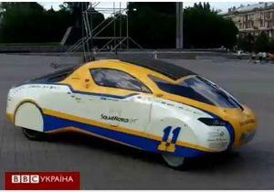 В Донецк заехал солнечный автомобиль