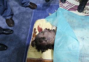 ПНС: тело Каддафи больше не будет выставлено на всеобщее обозрение