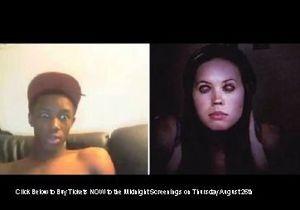 Пользователей Chatroulette напугали рекламой фильма ужасов