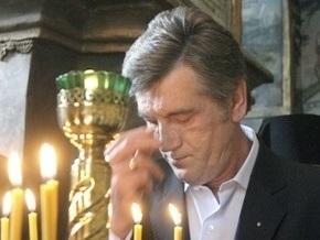 Ющенко принял участи в молебне по погибшим шахтерам