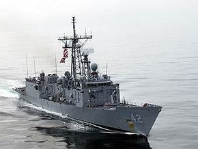 Американский фрегат прибыл из Севастополя в Батуми