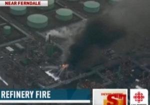 На нефтеперерабатывающем заводе в США произошел пожар
