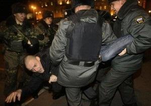 Лидера Левого фронта задержали в Москве после санкционированного митинга