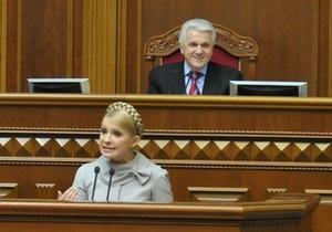 Литвин заявил, что примеряет на себя ситуацию с Тимошенко