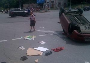 В Киеве столкнулись Chevrolet и Hyundai