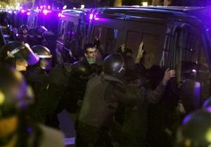 В Испании акция протеста переросла в столкновения демонстрантов с полицией