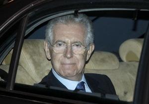 План Монти: Госдолг Италии должен быть снижен вдвое