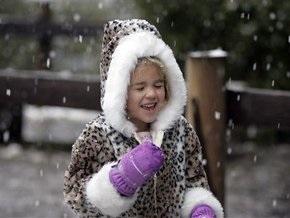 В Киеве выпал первый снег