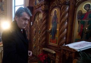 В Тернопольской области еженедельно проводят богослужения за здоровье Ющенко