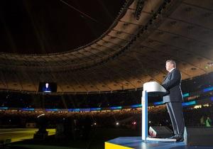 Януковича освистали на открытии Олимпийского
