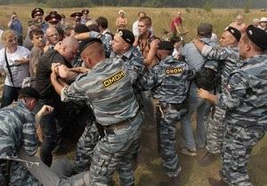 В подмосковном Жуковском задержали 70 антифашистов