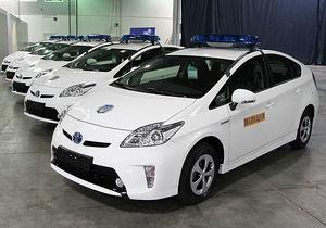 Украинская милиция получила 84 гибридных автомобиля Toyota Prius