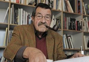 Израильские писатели призвали мировое сообщество осудить Гюнтера Грасса
